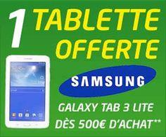 Opération Truc de Fou chez Cdiscount : une tablette Samsung Galaxy Tab 3 offerte pour 500 euros d'achats | Maxi Bons Plans