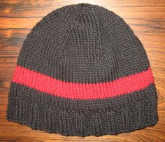 A hat for my son cause I've never knit the poor boy anything.  His color choices.  Pattern credit goes to yarnmanknits... Regular Guy Beanie found on Ravelry.