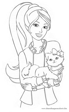 horse coloring pages for girls | barbie easter coloring pages ...