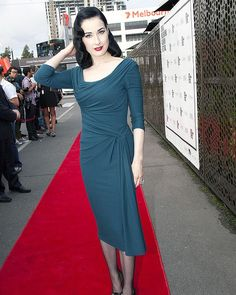 I adore Dita Von Tease. This would be very elegant with a jacket in the workplace.