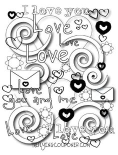 Free Valentine Doodles from Doodle Art Alley | Free Coloring Pages ...