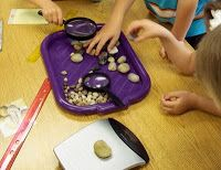 Using rocks in the discovery center