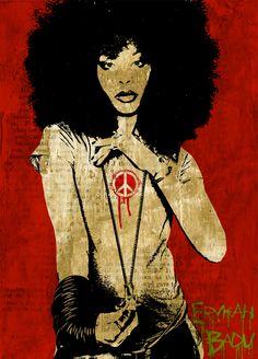 fuckyeablackart:  Erykah Badu poster art by ~KyleValentiVisit fuckyeablackart.tumblr.com for more!