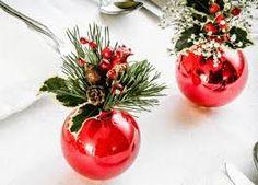 Resultado de imagem para enfeites de mesa para o natal artesanal