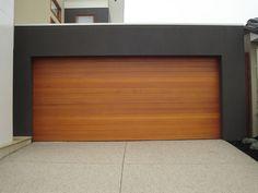 Modern cedar garage door cool rectangular bay window for Cedar clad garage doors
