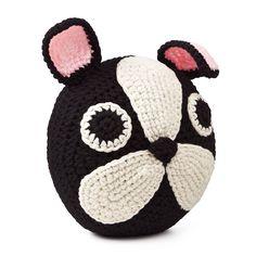 FRENCH BULLDOG PILLOW | dog pillow, crocheted | UncommonGoods