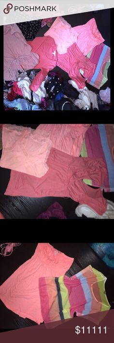 Bundle of Peaches Message me for questions about separating, sizes, & price. Taking offers !!! 😊 most are either small or medium Tops Blouses