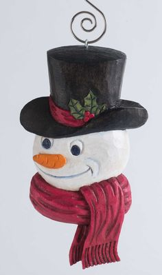 This Frosty ornament by Jim Willis won't melt after the holidays!