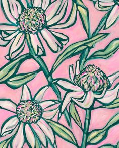 'Pink Painted Waratah' archival art print available in many sizes online link in bio.