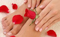 pedicure and manicure: I could totally use a mani pedi! Pedicure At Home, Pedicure Spa, Nail Spa, Rose Nail Art, Rose Nails, Pedicure Designs, Nail Designs, Paris Nails, Toenail Fungus Treatment