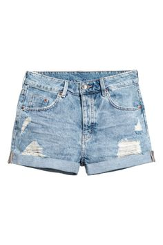 Women Jeans Shorts Outfit Summer Gym Pants For Women Casual Outfits Sp – tuliprlily Denim Cutoff Shorts, Denim Shorts Style, Ladies Denim Shorts, Light Denim, Jeans For Short Women, Pants For Women, Blue And White Jeans, Leopard Print Outfits, Grunge