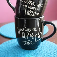 Tell your sweetheart just how much you love them this Valentine's Day with these DIY Sharpie Mugs!