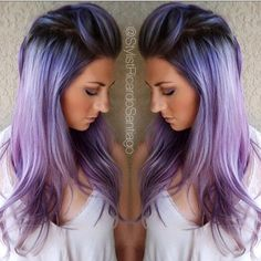 "Hot on Beauty on Instagram: "" Beautiful Smoked Periwinkle melting into silver lavender and violet by @stylistricardosantiago #hotonbeauty"""