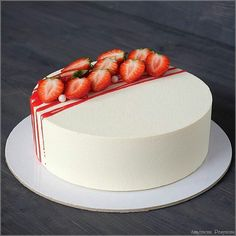 If you can buy a club near Moscow … – Food Cakes – # … – Cake Design – the - Strawberry Cake Decorations, Strawberry Cakes, Strawberry Compote, Strawberry Birthday Cake, Pretty Cakes, Beautiful Cakes, Amazing Cakes, Decoration Patisserie, Cheesecake Decoration