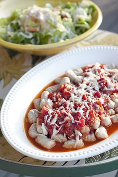 A wonderfully lovely Italian classic: Gnocchi with Tomato Cream Sauce.