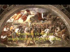 Domine Dominus Noster - Gregorian Chant, Catholic Hymns Renaissance Kunst, Italian Renaissance Art, High Renaissance, Renaissance Paintings, St Leo The Great, Attila The Hun, Web Gallery Of Art, Pope Leo, Empire Romain