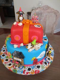 La Pâtisserie Rose: Puppy Party Theme 4th Birthday Cake