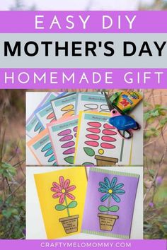 Handmade-Mothers-Day-Crafts-for-Kids Easy Art Projects, Craft Projects For Kids, Crafts For Kids To Make, Fun Activities For Kids, Craft Ideas, Mothers Day Flower Pot, Mothers Day Crafts, Flower Pot Crafts, Flower Pots