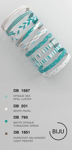 US$5.31 Loom bracelet pattern, loom pattern, miyuki pattern, square stitch pattern, pdf file, pdf pattern, cuff #70BIJU