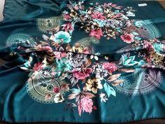 Kopftuch-Hijab-Foulard-Amira-Scarf AKMER Edelgrün Polyester Gestreift