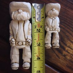 Couple Cowboys carved from a Gene Messer outline #woodcarving #caricature…