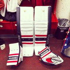 Here's Daniel Wapple's new Vaughn V6 setup with the Regina Pats in the WHL.