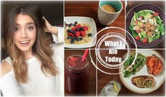 Smoothie with strawberries, blackberries, banana, spinach and almondmilk / apple with nutbutter / Get Healthy With Me | What I Ate Today!