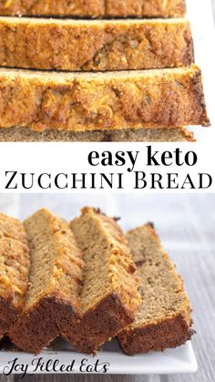 Keto Zucchini Bread - Low-Carb, Keto, Grain-Free, Gluten-Free, THM S - This keto zucchini bread is fluffy, moist, and positively delicious! This is the perfect time of year to make all sorts of zucchini recipes, and this healthy zucchini bread is one of my ultimate favorites. #lowcarb #lowcarbrecipes #lowcarbdiet #keto #ketorecipes #ketodiet #thm #trimhealthymama #glutenfree #grainfree #glutenfreerecipes #recipes #sugarfree #breakfast #zucchini #snack #brunch