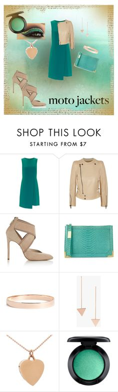 """Aqua and nude"" by diane-randle ❤ liked on Polyvore featuring Adrianna Papell, Chloé, Lanvin, Foley + Corinna, Lana Jewelry, Boohoo, Jennifer Meyer Jewelry and MAC Cosmetics"