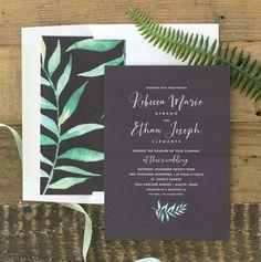 Calligraphic Botanical Wedding Invitation Suite | The Elli Blog