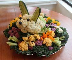 Mommy on the Money: Easter Bunny Veggie Platter