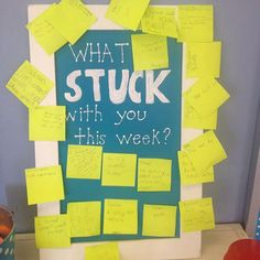What Stuck with you this week?