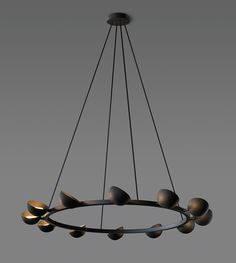 Jonathan Browning Studios - Avion Round Chandelier - 12 Light