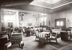 Swedish America's Kungsholm of 1928--smoking room