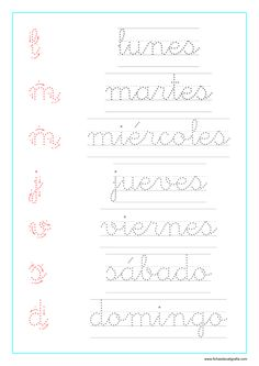 Teaching Cursive, Cursive Writing Worksheets, Cursive Alphabet, Cursive Handwriting, Printable Activities For Kids, Worksheets For Kids, Spanish Lessons For Kids, Kids Study, Learn Calligraphy