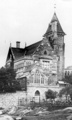 The Abbey at 272 Johnson St, Annandale in the inner west of Sydney (year unknown). As Time Goes By, Old Churches, Classic Architecture, Historical Pictures, Victorian Gothic, Old Photos, Sydney, Past, Old Things