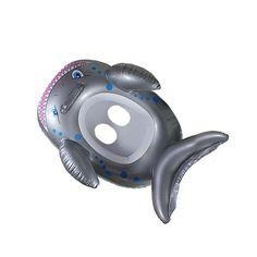 Sale 30% (6.8$) - IPRee Shark Shaped Swimming Ring Kids Baby Children Inflatable Swim Pool Seat Float Boat