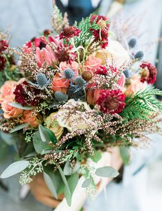 Rustic pink bouquet #weddingshoes