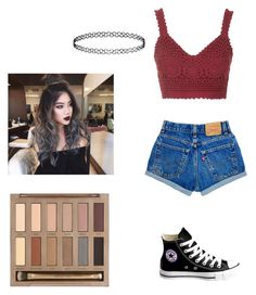 """Untitled #345"" by laurel8760 on Polyvore featuring Topshop, Converse and Urban Decay"