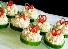 Tuniak - šalát, dip a jednohubky - Dušan Plichta Caprese Salad, Zucchini, Sushi, Dips, Lunch, Stuffed Peppers, Snacks, Dinner, Vegetables