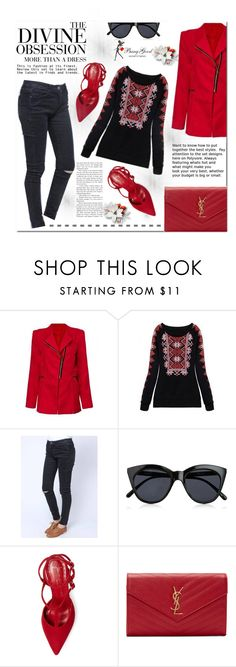 """""""Banggood #7"""" by cherry-bh ❤ liked on Polyvore featuring Vera Wang, Le Specs, Jean-Michel Cazabat, Yves Saint Laurent and BangGood"""