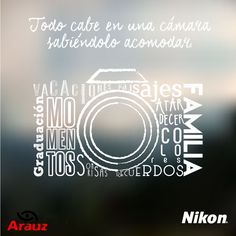 Para festejar este día, solo ocupo mi cámara, en ella va todo. #felizdíadelfotografo #nikon #arauzdigital