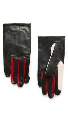 1328800e4c5 Guantes piel tricolor - Mango Mens Gloves