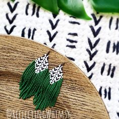 Beaded earrings 68398488078199344 - Forest Glade Beaded Fringe Earrings, Mudcloth Inspired Collection Source by Seed Bead Jewelry, Seed Bead Earrings, Fringe Earrings, Diy Earrings, Beaded Jewelry, Seed Beads, Hoop Earrings, Bugle Beads, Jewellery