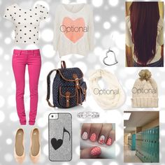 """""""Somewhat girly school outfit :)"""" by pinoypride-ftw on Polyvore"""