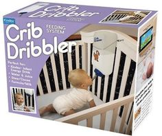 Crib Dribbler...I actually got this at my baby shower and thought it was real! Clever gift box-now displayed in the nursery!