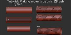 Making Woven Straps in Zbrush by Dan