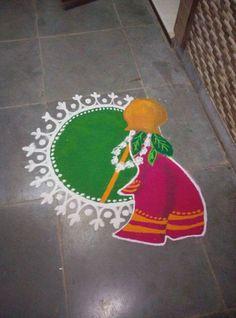 Latest Rangoli Designs for Diwali Browse over Ideas & Images on rangoli design for Diwali festival. Diwali is never complete without rangoli colours. Simple Rangoli Border Designs, Easy Rangoli Designs Diwali, Small Rangoli Design, Colorful Rangoli Designs, Rangoli Ideas, Beautiful Rangoli Designs, Kolam Designs, Gudi Padwa Rangoli, Sanskar Bharti Rangoli Designs
