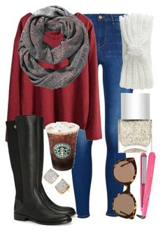 """i want some food but 2day has been interesting"" by elizabethannee ❤ liked on Polyvore featuring Kate Spade, Old Navy, Tory Burch, Aéropostale, Nails Inc., Illesteva and Remington"