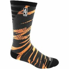 NBA 2013 All-Star Camo Bright Crew Socks - Orange/Black